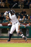 Scottsdale Scorpions outfielder Adam Brett Walker II (27) at bat during an Arizona Fall League game against the Salt River Rafters on October 14, 2015 at Scottsdale Stadium in Scottsdale, Arizona.  Scottsdale defeated Salt River 13-3.  (Mike Janes/Four Seam Images)