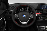 Steering wheel view of a 2019 BMW 2-Series 230i-Sport-Line 2 Door Convertible