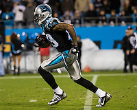 The Carolina Panthers play the New England Patriots at Bank of America Stadium in Charlotte North Carolina on Monday Night Football.  The Panthers defeated the Patriots 24-20.  Carolina Panthers wide receiver Ted Ginn (19)