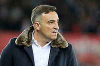 Swansea manager Carlos Carvalhal reacts on the touch line during the Premier League match between Swansea City and Southampton at The Liberty Stadium, Swansea, Wales, UK. Tuesday 08 May 2018