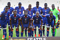 Seattle, WA - Saturday June 04, 2016: during a Copa America Centenario Group B match between Haiti (HAI) and Peru (PER) at Century Link Field.