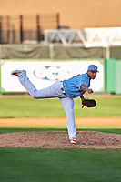 St. Louis Cardinals pitcher Carlos Martinez (18) makes a rehab appearance during a Midwest League game between the Peoria Chiefs and the Bowling Green Hot Rods at Dozer Park on May 5, 2019 in Peoria, Illinois. Peoria defeated Bowling Green 11-3. (Zachary Lucy/Four Seam Images)