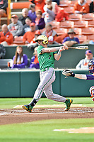 Notre Dame Fighting Irish second baseman Nick Podkul (7) swings at a pitch during a game against the Clemson Tigers at Doug Kingsmore Stadium on March 11, 2017 in Clemson, South Carolina. The Tigers defeated the Fighting Irish 6-5. (Tony Farlow/Four Seam Images)