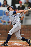 Princeton Rays designated hitter Ryan Terry #11 swings at a pitch during game against the Johnson City Cardinals at Howard Johnson Field on July 15, 2011 in Johnson City, Tennessee. Johnson City won the game 7-6.   (Tony Farlow/Four Seam Images)