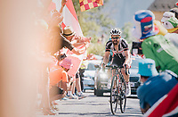 """Simon Geschke (DEU/Sunweb) coming through """"Dutch Corner"""" (#7) on Alpe d'Huez<br /> <br /> Stage 12: Bourg-Saint-Maurice / Les Arcs > Alpe d'Huez (175km)<br /> <br /> 105th Tour de France 2018<br /> ©kramon"""
