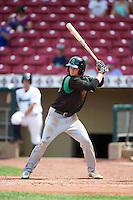 Dayton Dragons center fielder Mitch Piatnik (10) at bat during a game against the Cedar Rapids Kernels on July 24, 2016 at Perfect Game Field in Cedar Rapids, Iowa.  Cedar Rapids defeated Dayton 10-6.  (Mike Janes/Four Seam Images)