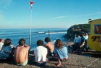 Bells Beach lineup 1979, Torquay, Victoria, Australia..Photo: Joliphotos.com.