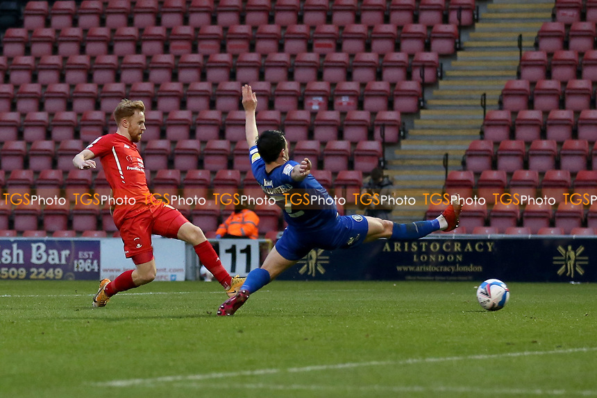 James Brophy of Leyton Orient goes close during Leyton Orient vs Harrogate Town, Sky Bet EFL League 2 Football at The Breyer Group Stadium on 21st November 2020