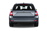 Straight rear view of 2017 Skoda Octavia Style 5 Door Wagon Rear View  stock images