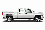 Passenger side profile view of a 2011 Chevrolet Silverado 2500LT Crew Cab..