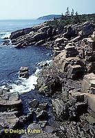 AC24-001d  Acadia National Park, Maine - rocks and ocean along Ocean Drive