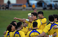 Rongotai performs a haka before the Wellington 1st XV Tranzit Coachlines premiership secondary schools rugby union match between St Patrick's College Silverstream and Rongotai College at Silverstream in Wellington, New Zealand on Saturday, 29 August 2020. Photo: Dave Lintott / lintottphoto.co.nz
