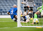 St Mirren v St Johnstone…09.05.21  Scottish Cup Semi-Final Hampden Park <br />Chris Kane scores to make it 1-0<br />Picture by Graeme Hart.<br />Copyright Perthshire Picture Agency<br />Tel: 01738 623350  Mobile: 07990 594431