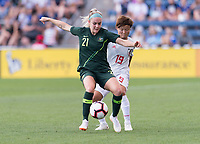 Bridgeview, IL - August 2, 2018: Australia defeated Japan 2-0 during the Tournament of Nations at Toyota Park.