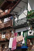 Europe/Espagne/Pays Basque/Guipuscoa/Pays Basque/Pasaia Donibane: Maisons du quartier des pêcheurs