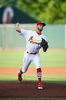 Springfield Cardinals starting pitcher Daniel Poncedeleon (23) delivers a pitch during a game against the Northwest Arkansas Naturals on April 26, 2016 at Hammons Field in Springfield, Missouri.  Northwest Arkansas defeated Springfield 5-2.  (Mike Janes/Four Seam Images)