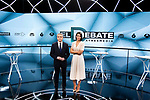 Vicente Valles and Ana Pastor during the electoral debate organized by Atresmedia television network on April 22, 2019 in Madrid, Spain.(ALTERPHOTOS/Alconada).