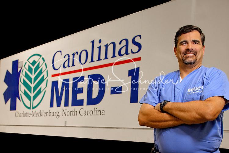 Photography  of the  Carolinas MED-1 mobile hospital unit.