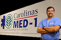 Photography  of the  Carolinas MED-1 mobile hospital unit.