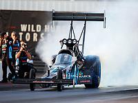 Feb 2, 2018; Chandler, AZ, USA; NHRA top fuel driver Scott Palmer during Nitro Spring Training pre season testing at Wild Horse Pass Motorsports Park. Mandatory Credit: Mark J. Rebilas-USA TODAY Sports
