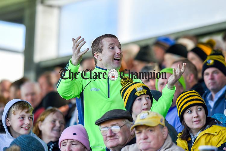 Snapchat star Buff Egan in the crowd at the county senior hurling final between Ballyea and Cratloe at Cusack Park. Photograph by John Kelly.