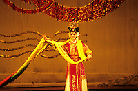 Colorful performance at Beijing Opera in Beijing China.