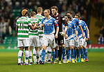 Celtic v St Johnstone…25.01.17     SPFL    Celtic Park<br />Steven Anderson leads the saints players out before kick off<br />Picture by Graeme Hart.<br />Copyright Perthshire Picture Agency<br />Tel: 01738 623350  Mobile: 07990 594431