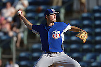 September 1 2008: Steve Johnson of the Inland Empire 66'ers during game against the Rancho Cucamonga Quakes at The Epicenter in Rancho Cucamonga,CA.  Photo by Larry Goren/Four Seam Images