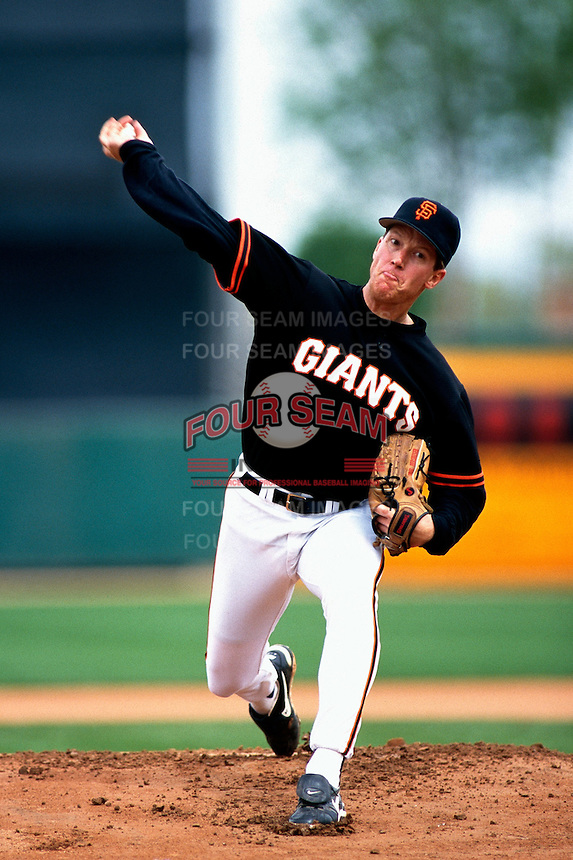 Orel Hershiser of the San Francisco Giants participates in a Major League Baseball Spring Training game during the 1998 season in Phoenix, Arizona. (Larry Goren/Four Seam Images)