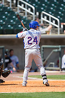 Bijan Rademacher (24) of the Tennessee Smokies at bat against the Birmingham Barons at Regions Field on May 4, 2015 in Birmingham, Alabama.  The Barons defeated the Smokies 4-3 in 13 innings. (Brian Westerholt/Four Seam Images)