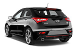 Car pictures of rear three quarter view of 2015 Hyundai I30 Turbo 5 Door Hatchback angular rear