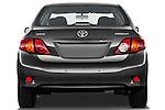 Straight rear view of a 2010 Toyota Corolla Linea Sol 4 Door Sedan