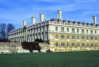 Cambridge: Clare College from King's. 17th century. Photo '83.