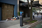 Brooklyn, New York<br /> August 5, 2020<br /> <br /> Midtown Manhattan slowly opens as sparse crowds begin coming out.