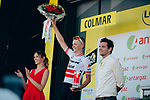 Latvian Champion Toms Skujins (LAT) Trek-Segafredo wins the day's combativity prize at the end of Stage 5 of the 2019 Tour de France running 175.5km from Saint-Die-des-Vosges to Colmar, France. 10th July 2019.<br /> Picture: ASO/Thomas Maheux | Cyclefile<br /> All photos usage must carry mandatory copyright credit (© Cyclefile | ASO/Thomas Maheux)