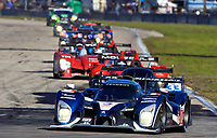 19 March 2011: The #8 Peugeot 908 of Stephane Sarrazin, Franck Montagny, and Pedro Lamy leads a long line of cars during the 12 Hours of Sebring, Sebring Internatonal Raceway, Sebring, FL. (Photo by Brian Cleary/www.bcpix.com)