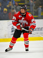 19 January 2008: Northeastern University Huskies' forward Tyler McNeely, a Freshman from Burnaby, British Columbia, in action against the University of Vermont Catamounts at Gutterson Fieldhouse in Burlington, Vermont. The Catamounts defeated the Huskies 5-2 to close out their 2-game weekend series...Mandatory Photo Credit: Ed Wolfstein Photo