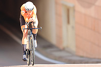 9th September 2021; Trento, Trentino–Alto Adige, Italy: 2021 UEC Road European Cycling Championships, Womens Individual time trials:  VAN DIJK Ellen (NED) finished 2nd in trials