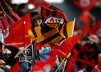 Photo: Richard Lane/Richard Lane Photography. Toulouse v Wasps.  European Rugby Champions Cup. 15/12/2018. Wasps flag and Toulouse flags.