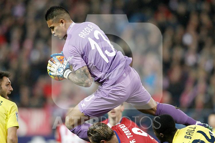 Villareal's Alphonse Areola during La Liga match. February 21,2016. (ALTERPHOTOS/Acero)
