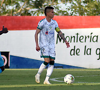 MONTERÍA- COLOMBIA, 18-02-2021:Walmer Pacheco  de La Equidad durante partido por la fecha 7 entre Jaguares de Córdoba y La Equidad como parte de la Liga BetPlay DIMAYOR 2021 jugado en el estadio  Jaraguay -Municipal de Montería de la ciudad de Montería. / Walmer Pacheco of La Equidad during match for the date 7 between Jaguares de Cordoba  and Equidad as a part BetPlay DIMAYOR League I 2020 played at  Jaraguay -Municipal de Montería  stadium in Monteria city.. Photo: VizzorImage / Felipe López / . Photo: VizzorImage / Felipe López / Contribuidor