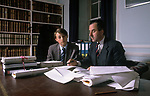 Mentoring a young schoolboy learns what it is like to be a barrister London England 1990s UK