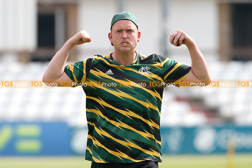 Luke Fletcher of Nottinghamshire warms up ahead of Essex CCC vs Nottinghamshire CCC, LV Insurance County Championship Group 1 Cricket at The Cloudfm County Ground on 3rd June 2021