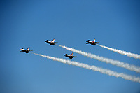 FORT LAUDERDALE, FLORIDA - MAY 06: The United States Air Force Thunderbirds practice over Fort Lauderdale Beach prior to the Fort Lauderdale Air Show on May 6, 2016 in Fort Lauderdale, Florida. <br /> <br /> <br /> People:  Air Force Thunderbirds