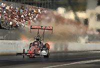 Nov 3, 2007; Pomona, CA, USA; NHRA top fuel dragster driver Cory McClenathan during qualifying for the Auto Club Finals at Auto Club Raceway at Pomona. Mandatory Credit: Mark J. Rebilas-US PRESSWIRE