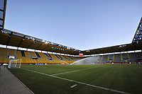 illustration picture of the stadium  pictured during a friendly female soccer game between the national teams of Germany and  Belgium , called the Red Flames  in a pre - bid tournament called Three Nations One Goal with the national teams from Belgium , The Netherlands and Germany towards a bid for the hosting of the 2027 FIFA Women's World Cup , on Sunday 21 st of February 2021  in Aachen , Germany . PHOTO SPORTPIX.BE   SPP   STIJN AUDOOREN