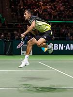 Rotterdam, The Netherlands, 18 Februari, 2018, ABNAMRO World Tennis Tournament, Ahoy, Doubles final,  Mate Pavic (CRO)<br /> <br /> Photo: www.tennisimages.com