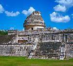 Mexiko, Yucatan, Chichen Itza: Caracol – der Schneckenturm, ein Observatorium der Mayas | Mexico, Yucatan, Chichen Itza: Mayan Observatory - the Snail