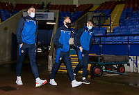 Bolton Wanderers' Ryan Delaney (left) Ali Crawford and Ronan Darcy arriving at the stadium <br /> <br /> Photographer Andrew Kearns/CameraSport<br /> <br /> The EFL Sky Bet League Two - Bolton Wanderers v Mansfield Town - Tuesday 3rd November 2020 - University of Bolton Stadium - Bolton<br /> <br /> World Copyright © 2020 CameraSport. All rights reserved. 43 Linden Ave. Countesthorpe. Leicester. England. LE8 5PG - Tel: +44 (0) 116 277 4147 - admin@camerasport.com - www.camerasport.com
