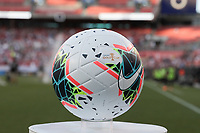 CLEVELAND, OHIO - JUNE 22: Game ball during a 2019 CONCACAF Gold Cup group D match between the United States and Trinidad & Tobago at FirstEnergy Stadium on June 22, 2019 in Cleveland, Ohio.